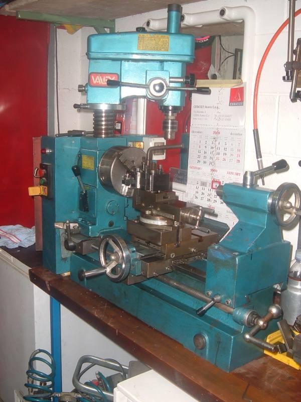 Tornio da banco valex modello tornio piu 39 fresa marca for Tornio da banco per metalli usato