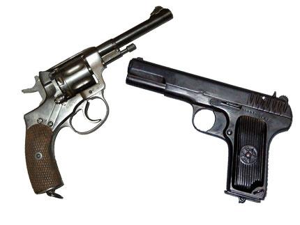 Pistole d'ordinanza russe: revolver nagant e pistole tokarev tt 30
